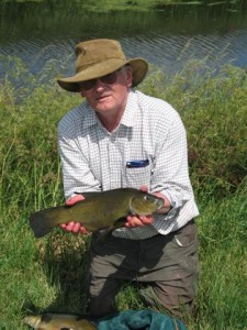 Ron Clay with a nice tench