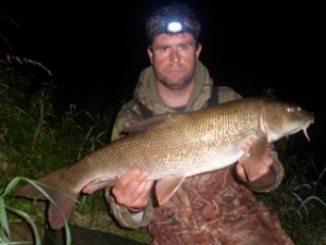 Jerry Gleeson with a bigger barbel