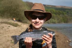 she needs professional coaching if she is to enjoy her fishing