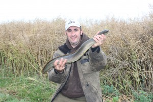 Nice eel...I look like a vagrant