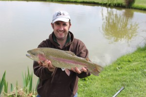 10lb 4oz rainbow trout from Roxholme