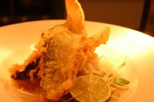 Sea bass tempura