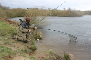 Coming to the net at Scout Dyke