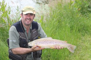 Brown trout at Roxholme fly fishery