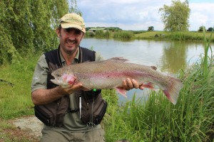 Roxholme Trout fishery rainbow trout